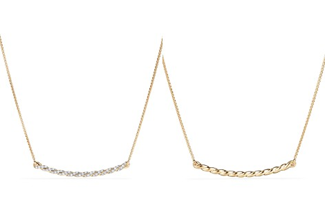 David Yurman Paveflex Station Necklace with Diamonds in 18K Gold - Bloomingdale's_2