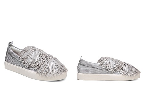 Sam Edelman Women's Emory Metallic Tassel Pom-Pom Slip-On Sneakers - Bloomingdale's_2