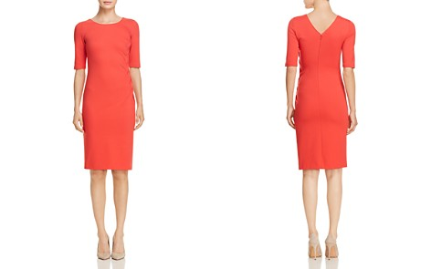 Emporio Armani Side Ruched Scoop Neck Dress - Bloomingdale's_2