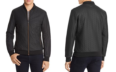Antony Morato Leather Quilted Bomber Jacket - Bloomingdale's_2