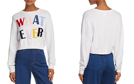 Alice and Olivia Leena Whatever Cropped Sweatshirt - Bloomingdale's_2