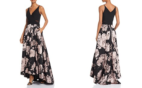 AQUA Printed High/Low Gown - 100% Exclusive - Bloomingdale's_2