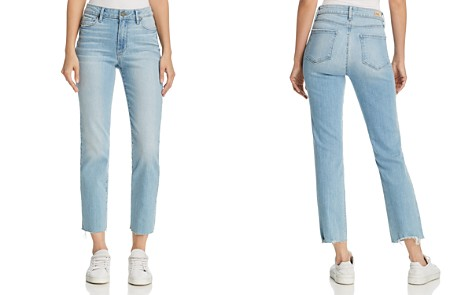 PAIGE Jacqueline Straight-Leg Frayed-Hem Jeans in Lumina - Bloomingdale's_2