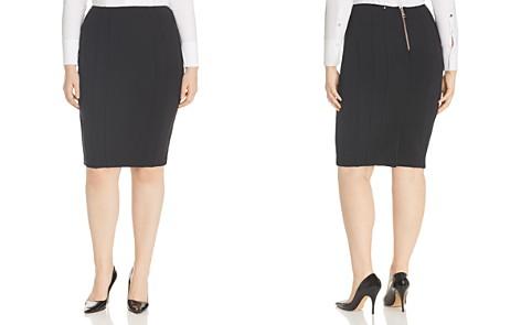 Marina Rinaldi x Ashley Graham Ocraceo Pleated Pencil Skirt - Bloomingdale's_2