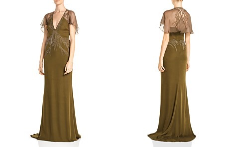 Haute Hippie Shaded Palm Bead-Embellished Silk Gown - Bloomingdale's_2