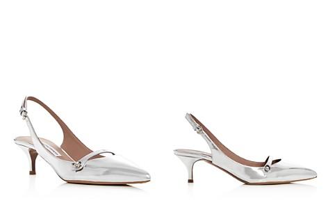 Tabitha Simmons Women's Layton Leather Slingback Kitten Heel Pumps - Bloomingdale's_2