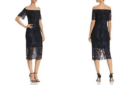 AQUA Off-the-Shoulder Lace Dress - 100% Exclusive - Bloomingdale's_2