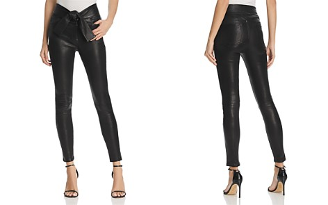 FRAME Waist-Tie Skinny Leather Pants - Bloomingdale's_2