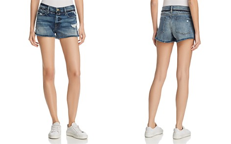 FRAME Le Cut Off Released Waistband Shorts in Rookley - Bloomingdale's_2