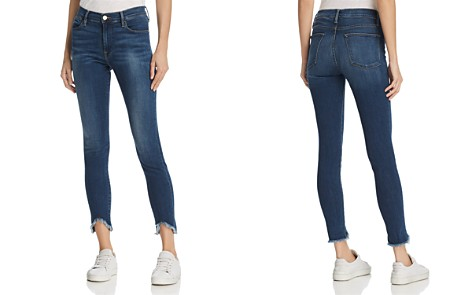 FRAME Le High Skinny Triangle Hem Jeans in Sulham - Bloomingdale's_2