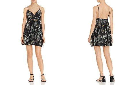 Karina Grimaldi Grace Pleated Floral-Print Mini Dress - Bloomingdale's_2