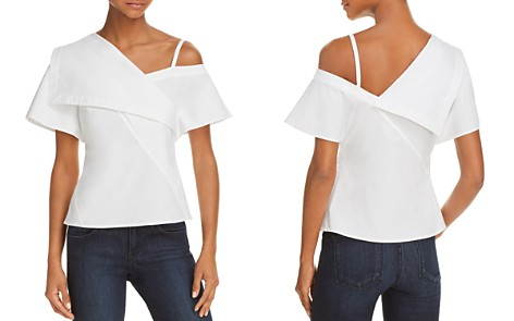 Theory Asymmetric Cold-Shoulder Top - Bloomingdale's_2