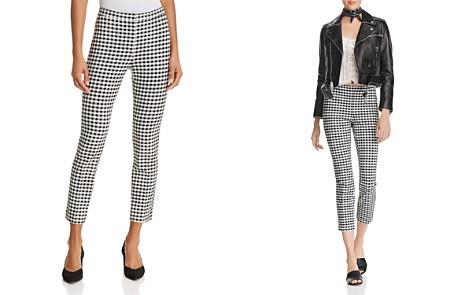 Theory Gingham Classic Skinny Pants - Bloomingdale's_2