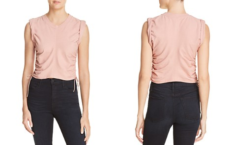 T by Alexander Wang Ruched Muscle Tee - Bloomingdale's_2