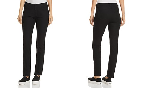 Lafayette 148 New York Thompson Chevron-Textured Jeans in Black - Bloomingdale's_2