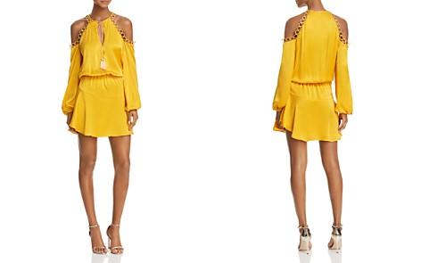 Karina Grimaldi Kylie Cold-Shoulder Silk Dress - Bloomingdale's_2