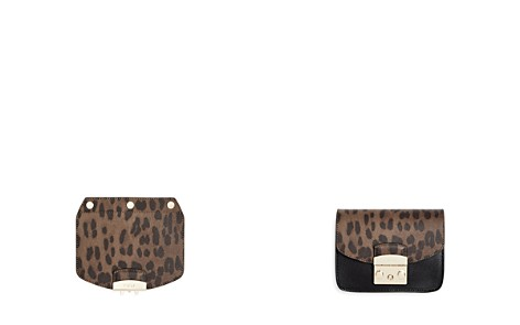 Furla MY PLAY Interchangeable Metropolis Mini Leather Leopard Print Flap - Bloomingdale's_2