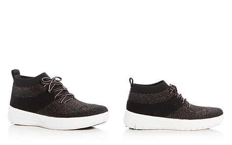 FitFlop Women's Uberknit Glitter Mid Top Sneakers - Bloomingdale's_2