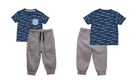 Sovereign Code Boys' Shark Print Tee & Jogger Pants Set - Baby - Bloomingdale's_2