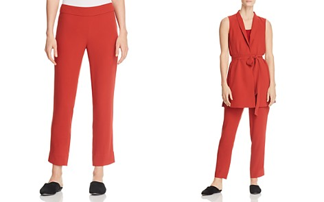 Eileen Fisher Petites Silk Slim Ankle Pants - 100% Exclusive - Bloomingdale's_2