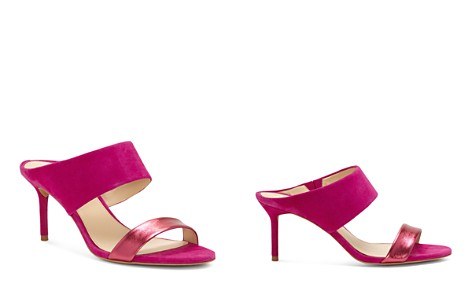 VINCE CAMUTO Women's Navinta Suede & Leather Mid Heel Slide Sandals - Bloomingdale's_2