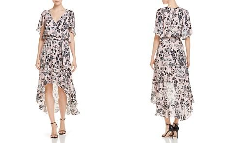 Parker Demi Floral High/Low Silk Dress, Pearl - Bloomingdale's_2