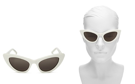 Saint Laurent Women's Lily Cat Eye Sunglasses, 52mm - Bloomingdale's_2