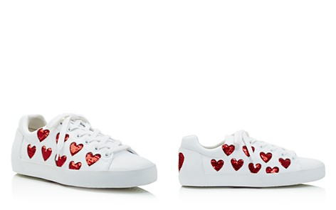Ash Nikita Sequin Heart Lace Up Sneakers - Bloomingdale's_2