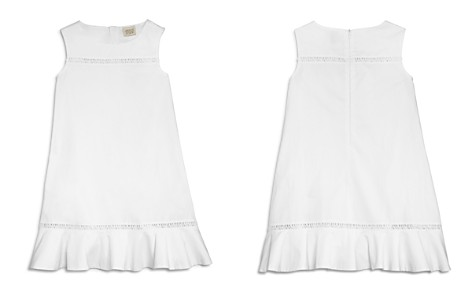 Armani Junior Girls' Cotton Poplin Dress with Logo Embroidery - Big Kid - Bloomingdale's_2