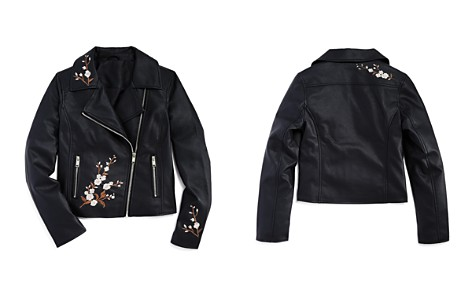 AQUA Girls' Faux-Leather Embroidered Moto Jacket, Big Kid - 100% Exclusive - Bloomingdale's_2