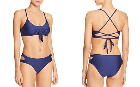 Splendid Art Deco Bralette Bikini Top & Side Cutout Bikini Bottom - Bloomingdale's_2