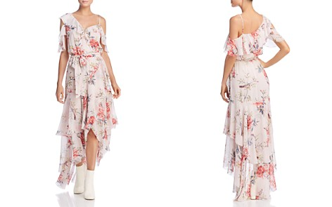 Joie Cristeta Cold-Shoulder Silk Dress - Bloomingdale's_2