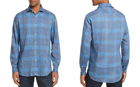 Eidos Madras Plaid Washed Regular Fit Button-Down Shirt - Bloomingdale's_2