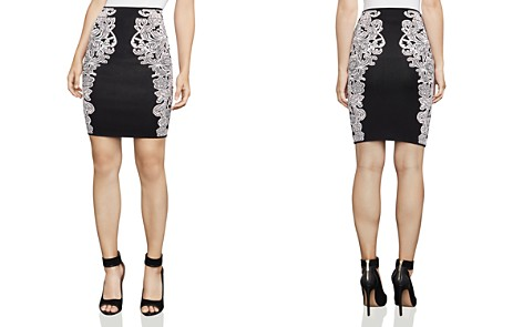 BCBGMAXAZRIA Natalee Floral Jacquard Pencil Skirt - Bloomingdale's_2
