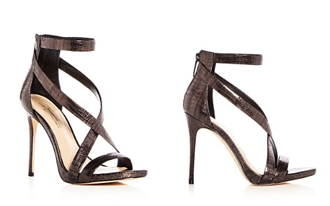 Imagine VINCE CAMUTO Women's Devin Lizard Embossed Leather Crisscross High Heel Sandals - Bloomingdale's_2