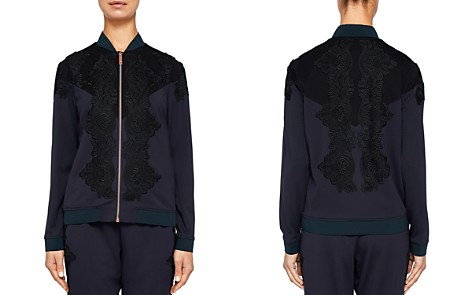 Ted Baker Ted Says Relax Sadiet Lace-Detail Bomber Jacket - Bloomingdale's_2