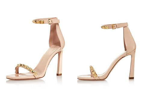 Stuart Weitzman Women's 100Rosist Studded Leather Ankle Strap Sandals - Bloomingdale's_2