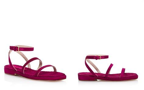 Stuart Weitzman Women's Quinn Satin Ankle Strap Sandals - Bloomingdale's_2