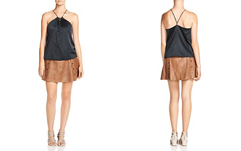 Haute Hippie Cross My Heart Lace-Up Cami - Bloomingdale's_2