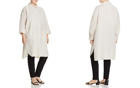 Eileen Fisher Plus Lightweight Stand-Collar Jacket - Bloomingdale's_2