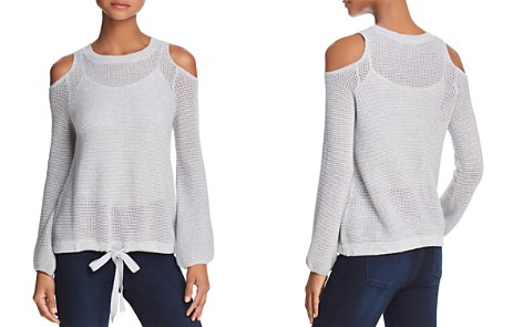 Minnie Rose Cold-Shoulder Open-Knit Sweater - Bloomingdale's_2