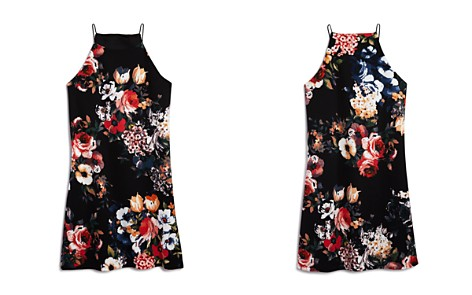AQUA Girls' Sleeveless Floral Dress, Big Kid - 100% Exclusive - Bloomingdale's_2