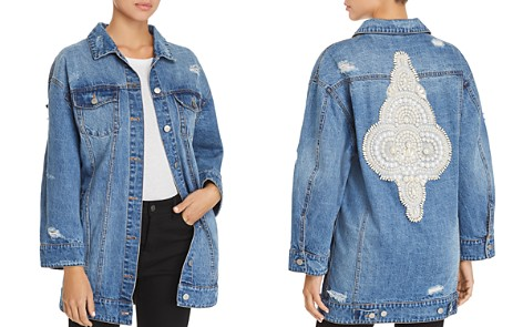 Avec Les Filles Embellished Distressed Denim Jacket - 100% Exclusive - Bloomingdale's_2