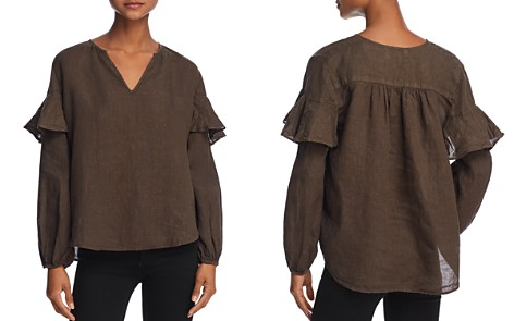 Velvet by Graham & Spencer Tyra Ruffled Peasant Top - Bloomingdale's_2