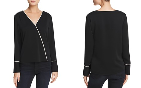 Cooper & Ella Mariana Piped Faux-Wrap Top - Bloomingdale's_2
