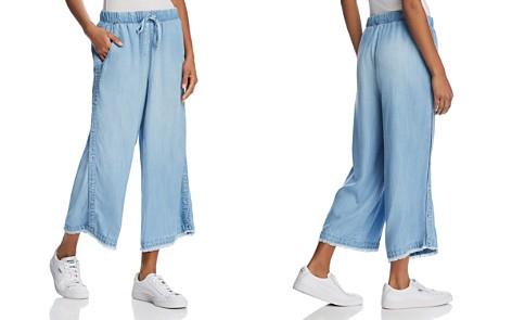 Bella Dahl Cropped Wide-Leg Side-Button Pants - 100% Exclusive - Bloomingdale's_2