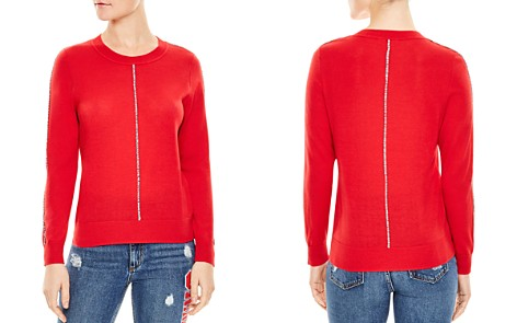 Sandro Anouk Piped Sweater - Bloomingdale's_2