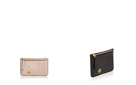 Tory Burch Georgia Top Zip Leather Card Case - Bloomingdale's_2