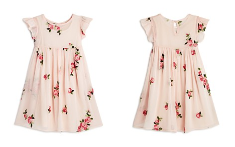 Pippa & Julie Girls' Floral Ruffle-Sleeve Dress - Little Kid - Bloomingdale's_2