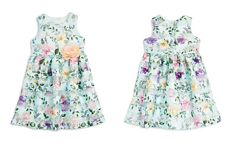Pippa & Julie Girls' Floral Shadow-Stripe Dress - Little Kid - Bloomingdale's_2